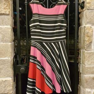 Tahari ASL Striped Fit-and-Flare Dress 🌷